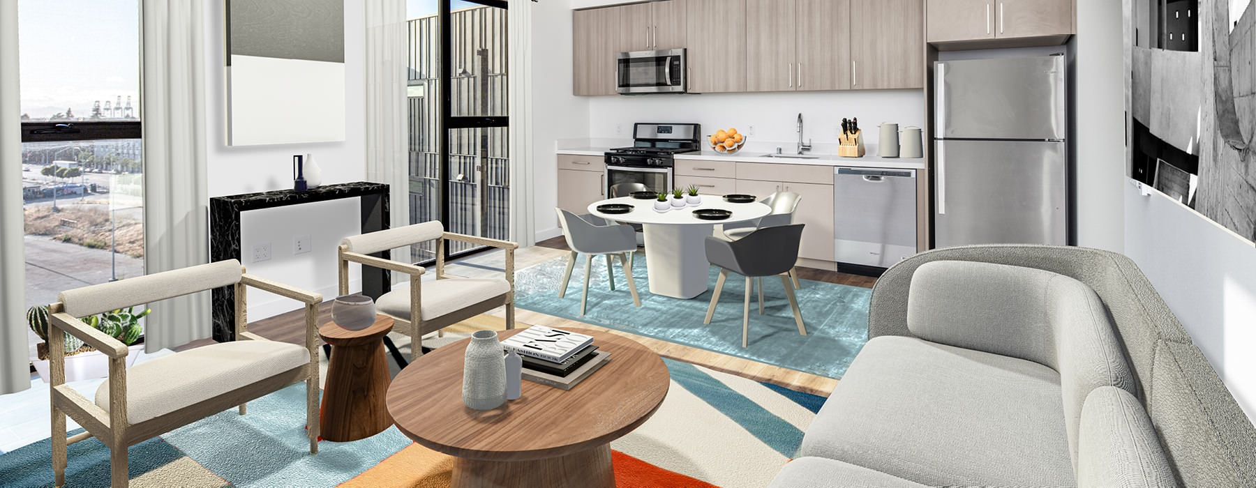 living and dining area rendering